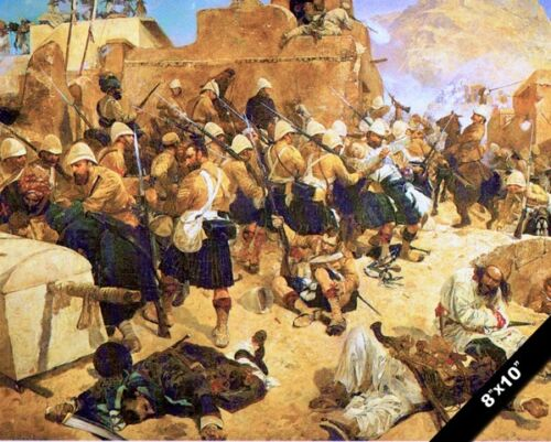 92ND HIGHLANDERS STORMING KANDAHAR AFGHANISTAN PAINTING WAR ART CANVAS PRINT