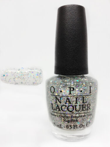 OPI Nail Lacquer- Glitter Polish- Snowflakes In The Air   0.5oz/15ml
