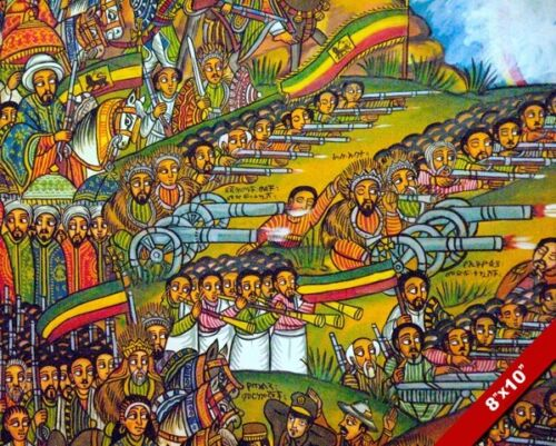 BATTLE OF ADWA ADOWA PAINTING ETHIOPIA VS ITALY WAR ART REAL CANVASPRINT
