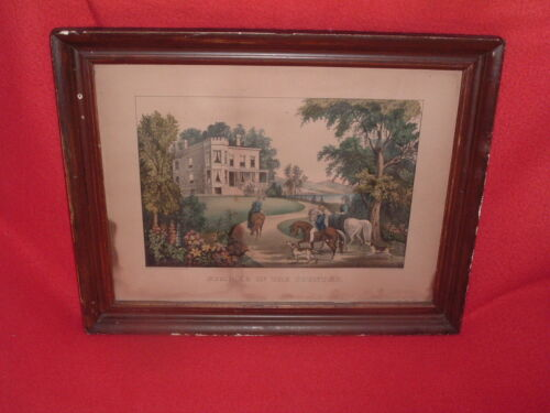 Original Currier & Ives Print Summer In The Country Nice Margins Lithograph