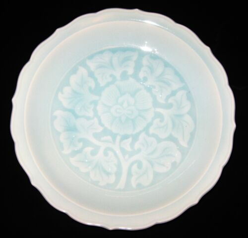 ANTIQUE CHINESE CELADON PORCELAIN BOWL, HAND- WRITING SIGNED- 19TH CENTURY, NR.