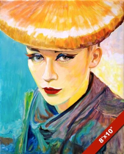 VOGUE WOMAN MODEL WITH BLONDE VIBRANT COLORS PAINTING ART REAL CANVAS PRINT