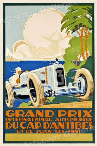 Grand Prix d/'Europe Berne 1948 Vintage Style Auto Motorcycle Racing Poster 16x24