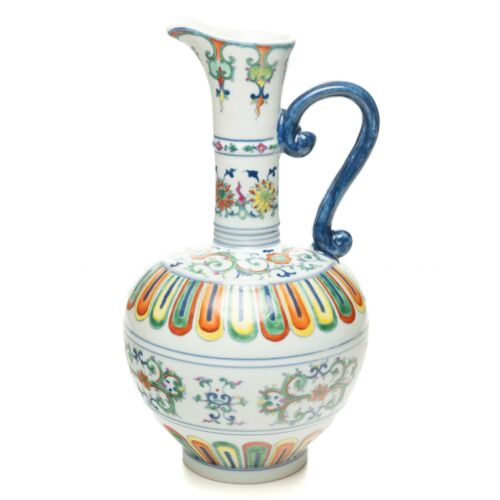Collectible China Famille Rose Jingdezhen Porcelain Pitcher
