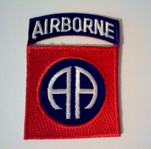"""82nd Airborne Patch and Airborne Tab together     3"""" x 2""""Army - 48824"""