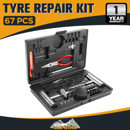 67PCS Tyre Puncture Repair Recovery Kit Heavy Duty 4WD Offroad Plugs Tubeless <br/> 20% off* with code PLUSBF20,Ebay Plus member only!