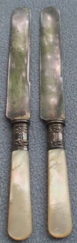 Set of 5 American Cutlery Company Mother of Pearl Sterling Silver Dinner Knives