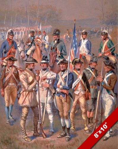 AMERICAN REVOLUTION CONTINENTAL SOLDIER PAINTING HISTORY WAR ART CANVAS PRINT