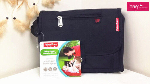 NEW Fisher Price Nappy Changing Clutch Travel Diaper Bag Size 27x25cm