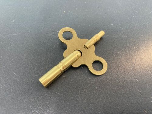 Seth Thomas Antique Clock Key 6/4 for #89 Movement New Brass Double End