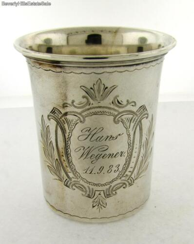 Antique 800 Continental Silver Beaker