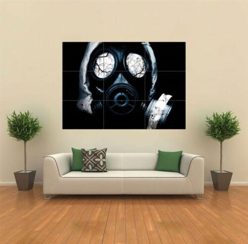 BLACK GAS MASK HORROR GOTHIC NEW GIANT POSTER WALL ART PRINT PICTURE G111