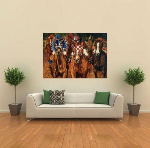 HORSE RACING NEW GIANT POSTER WALL ART PRINT PICTURE G497