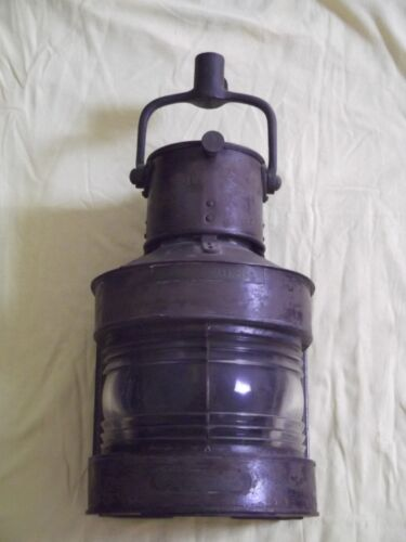 WWII (1943) Steel Nautical Lantern Masthead Patt. 25A Birmingham Engineering Co.