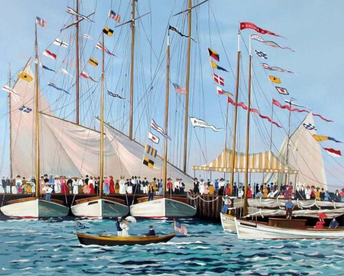 """Sally Caldwell-Fisher - """"Regatta Day"""", hand signed, serigraph"""