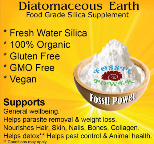Diatomaceous Earth 450 g 100 % PURE <br/> ULTRA FINE Food Grade - Safe to Consume