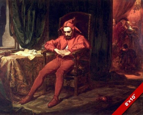 THE TIRED COURT JESTER PAINTING STANCYK POLISH EUROPEAN ART REAL CANVAS PRINT
