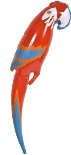 Inflatable Blow Up Parrot Fancy Dress Accessory Pirate Hawaiian 48CM UK SELLER