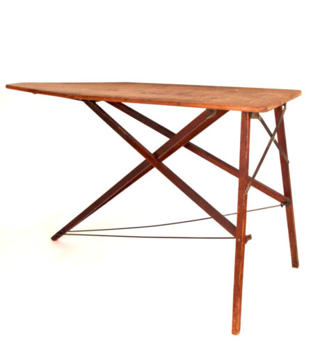 """Antique Ironing Board / Folding Table, Arts & Crafts Early 20th C., ~24x31.5x55"""""""