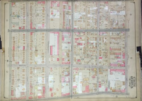 1906 BELCHER HYDE BROOKLYN NY FLATBUSH - ERASMUS H.S. NYC MAP ATLAS - 27x36