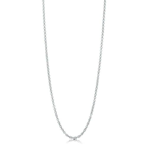 BERRICLE Italian Sterling Silver Rolo Chain Necklace 2mm