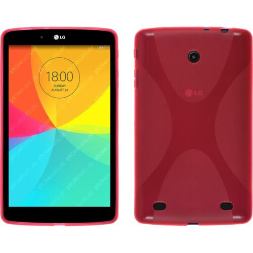 Silicone Case for LG G Pad 8.0 X-Style hot pink Cover