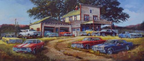 Dale Klee Chevelle Collector SN Print 32 x 14