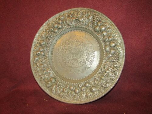 Antique Continental European Pewter Plate