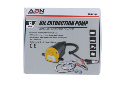 ABN 12V 5A 60W Fluid/Oil/Diesel Extractor Pump w/ Tubes for Truck, RV, Boat, ATV