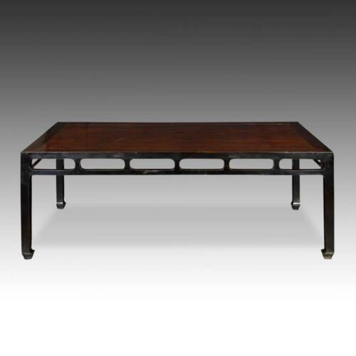 ANTIQUE CHINESE QING DINING ROOM TABLE ELM WOOD FURNITURE SHANXI CHINA 19TH C.