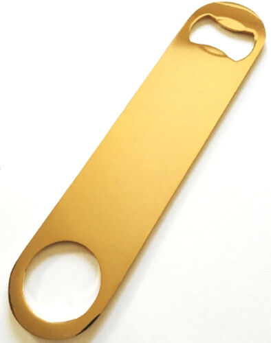 Gold Plated Speed Bottle Opener Also Known as Mamba or Popper Church Key