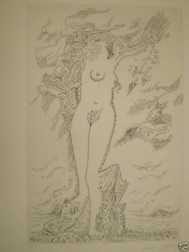 ANDRE MASSON Original Etching, Signed Limited Edition