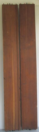 """SET WALNUT FRENCH EUROPEAN STYLE BED RAILS w/ BOLTS  74"""" LONG GREAT QUALITY"""