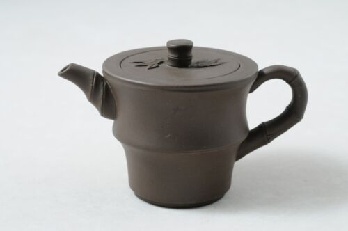Chinese yixing purple clay bamboo teapot by Factory #1 worker  周建英