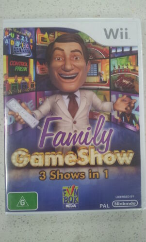 Family GameShow 3 Shows in 1 Wii Game PAL Region (New & Sealed)