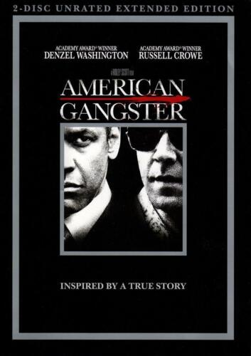American Gangster 2 Disc Unrated Extended Edition Region 1 NEW SEALED