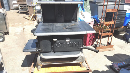 Antique STOVE by Sterling restored wood burning converted to propane