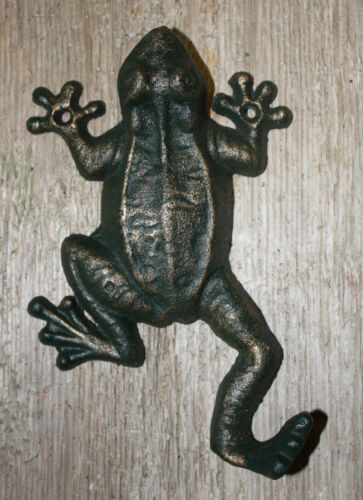 Cast Iron Antique Style Nautical FROG Coat Hooks Hat Hook Rack Towel Sea TOAD