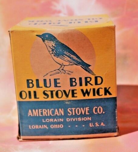 Vintage Blue Bird Oil Stove Wick, NOS FREE SHIPPING!