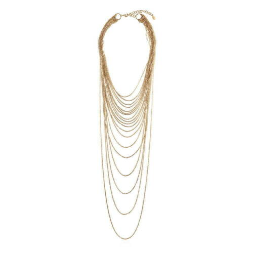 BERRICLE Gold-Tone Fashion Layered Necklace