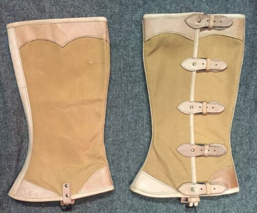 Leather and Canvas Officer's or Gentlemans' Private Purchase Leggings Size 6 Reproductions - 156388