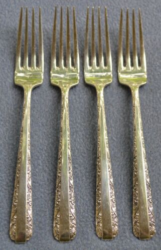 Set of FOUR Towle Sterling Silver Candlelight Dinner Forks