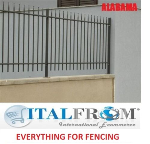 Fence panel standard Alabama railing galvanized wrought iron