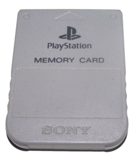 Genuine Sony Playstation 1 Memory Card 1MB Grey PS1 Official **