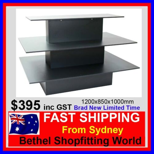 3 Tier Display Table- Perfect For Any Retail Store 1200x850x1000mm Brand New!