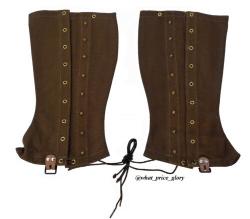 US M1897 Dark Brown Canvas Cavalry Leggings Size 3Reproductions - 156386
