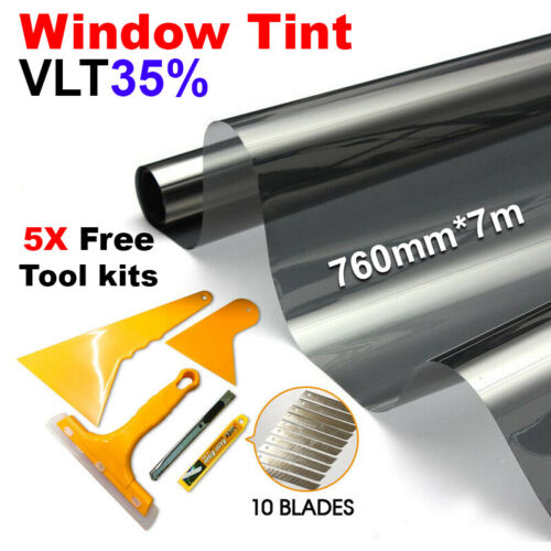 AU SHIP Car Home Window Tint Film Black Roll 35% VLT 760mm*7m Tinting Tools Kit