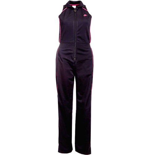 Nike Cat Suit Womens All-In-One Sport Black Tracksuit 295577 010 M10