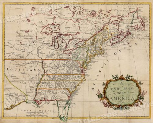 1760s North American Historic Vintage Style French and Indian Wall Map - 24x30