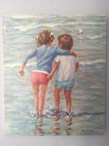 """Ivan Anderson Original Painting on canvas Titled """"Big Sister"""""""